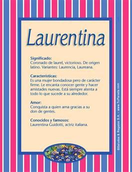 Nombre Laurentina