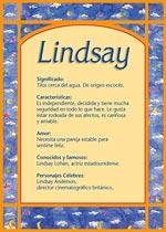 Lindsay Significado Del Nombre Lindsay Nombres Y Significados