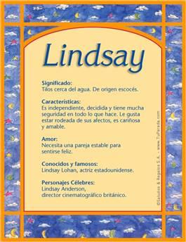 Nombre Lindsay