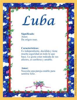 Nombre Luba