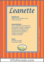 Nombre Leanette