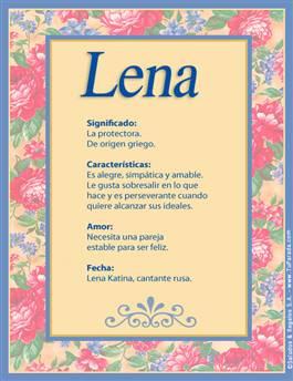 Nombre Lena