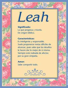 Nombre Leah