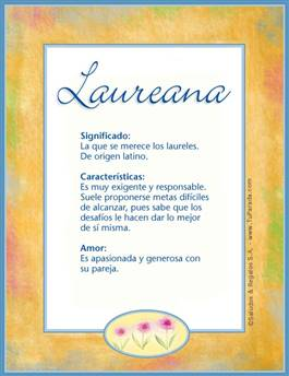 Nombre Laureana