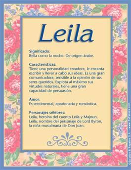 Nombre Leila