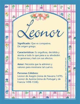 Nombre Leonor