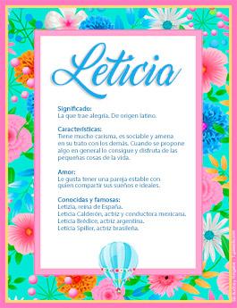 Nombre Leticia