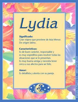 Nombre Lydia