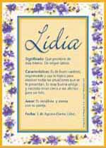 Nombre Lidia