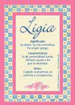Nombre Ligia