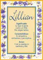 Nombre Lillian