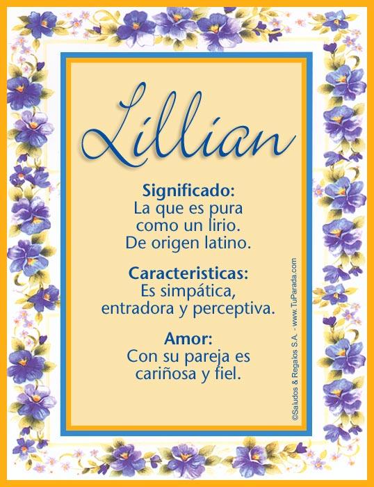 Lillian, imagen de Lillian