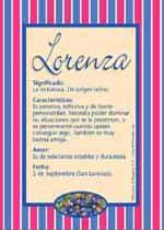 Nombre Lorenza