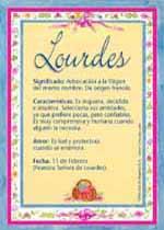 Nombre Lourdes