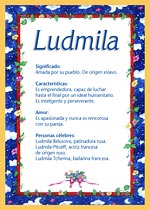 Nombre Ludmila