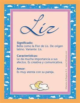 Nombre Liz