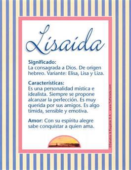 Nombre Lisaida