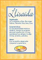 Nombre Llisaida