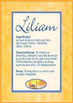 Nombre Liliam