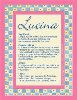 Nombre Lucina