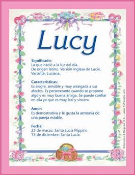 Nombre Lucy