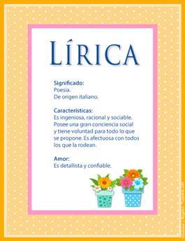 Nombre Lírica