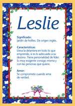 Nombre Leslie