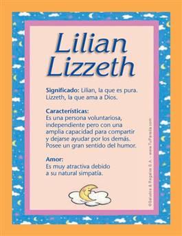 Nombre Lilian Lizzeth