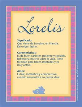 Nombre Lorelis