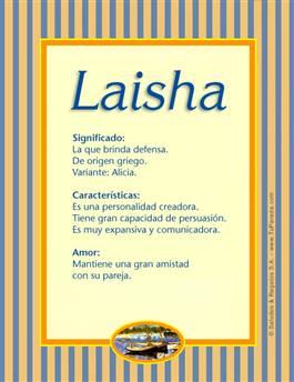 Nombre Laisha