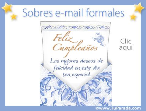 Tarjetas de Sobres e-mail formales
