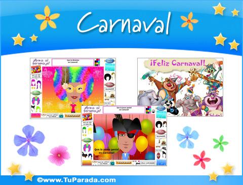 Tarjetas De Carnaval Postales De Carnaval Tarjetas