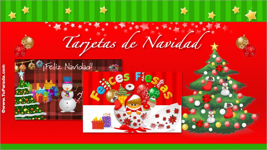 Felicitaciones De Navidad En Castellano.Tarjetas De Navidad Envia Una Tarjeta Navidena Mas De