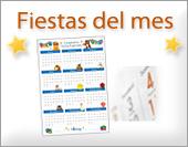 Tarjetas, postales: Fiestas del mes