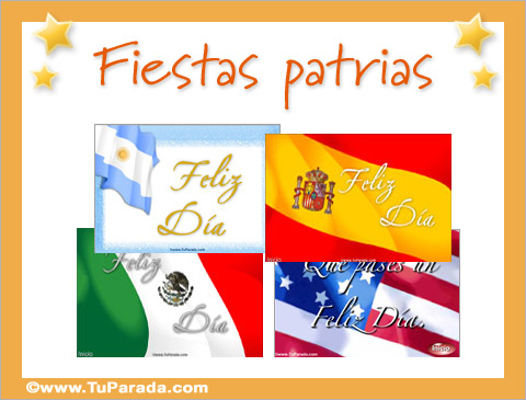 Tarjetas De Fiestas Patrias Postales De Festividades