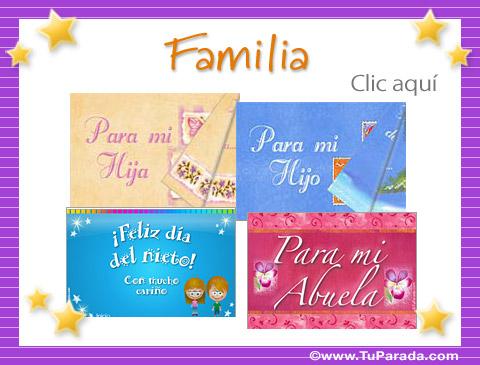 Tarjetas, postales: Familia