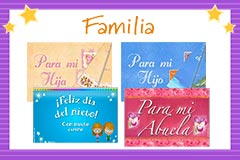Tarjetas de  Familia