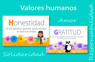 Tarjetas, postales: Valores humanos