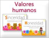 Tarjetas de Valores humanos