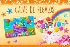 Tarjetas de Cajas de regalos