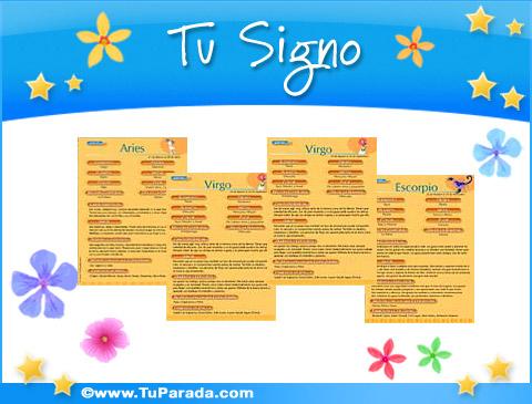 Tarjetas de Signos del zodíaco