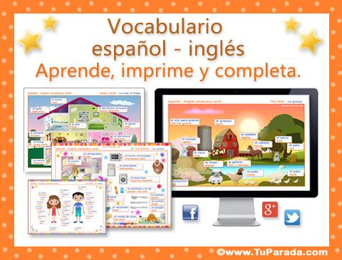 Vocabulario Español Inglés Material Didáctico En Inglés