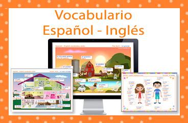 Tarjetas, postales: Vocabulario Español-Inglés