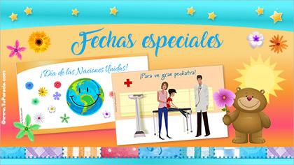Tarjetas, postales: Fechas especiales