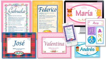 Tarjetas, postales: Significado de nombres