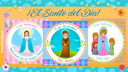 Tarjetas, postales: El Santo del Día
