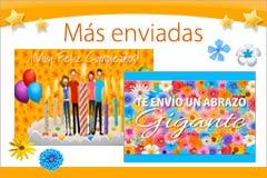 Tarjetas de Felicitaciones nuevas y más enviadas