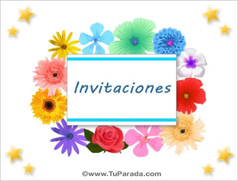Tarjetas De Invitación Invitaciones Para Salir Postales De