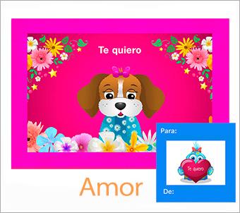 Tarjetas, postales: Amor