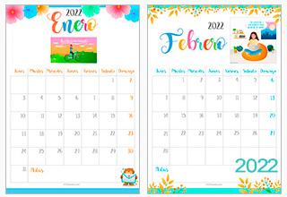 Calendario 2021 - 2022 con imágenes